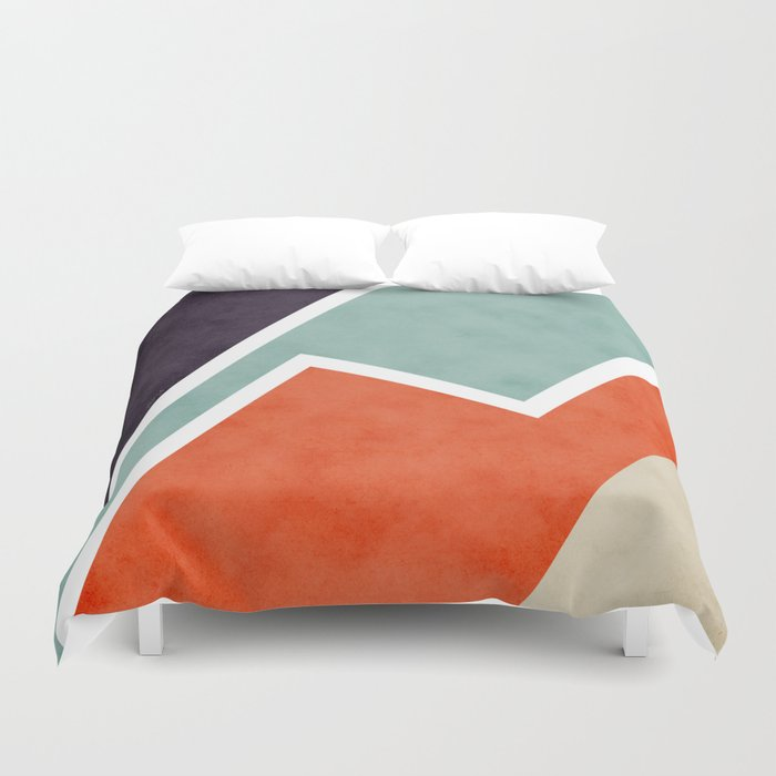 Colorful Textural Abstract Graphic Duvet Cover