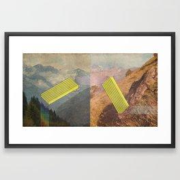 RAIN BOW MOUNTAINS Framed Art Print
