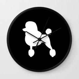 Poodle (Black/White) Wall Clock
