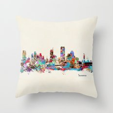 Sacramento California skyline Throw Pillow