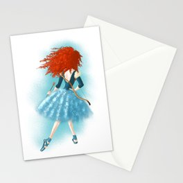 Red - Haired Lass Stationery Cards