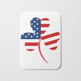 USA American Flag Of Shamrock St. Patrick's Day Irish Bath Mat