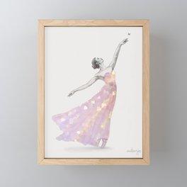 Crystal Ballerina Framed Mini Art Print