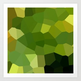 Green and pointy grow the pixel leaves Art Print