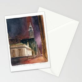 Grand Central Station and the Chrysler Building II Stationery Cards