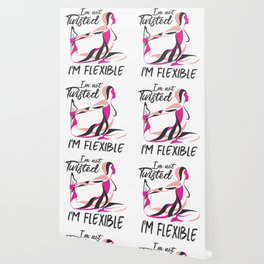 Funny Yoga Art for Women and Men | Namaste Flexible Pose Light Wallpaper
