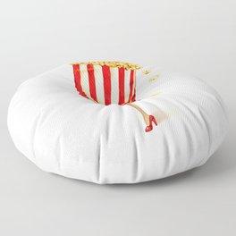 Popcorn Girl Floor Pillow