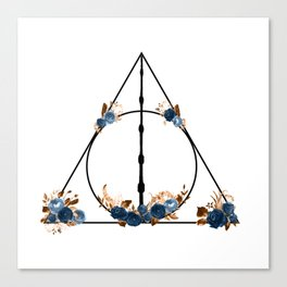 Deathly Hallows in Blue and Brown Canvas Print