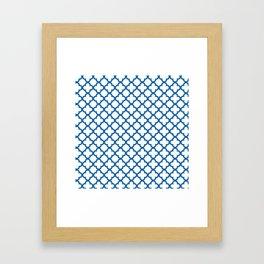 Quatrefoil_Blue Framed Art Print