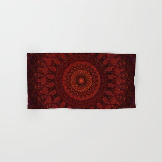 Dark and light red mandala by jaroslawblaminsky