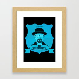 Breaking Bad University Framed Art Print