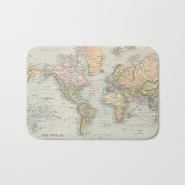 Vintage Map of The World (1892) Bath Mat
