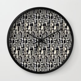 Maze Knit Wall Clock
