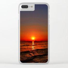 Sonnenuntergang am Meer Clear iPhone Case