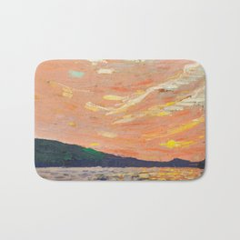 Tom Thomson - Smoke Lake - Canada, Canadian Oil Painting - Group of Seven Bath Mat