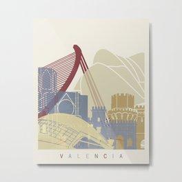 Valencia skyline poster Metal Print