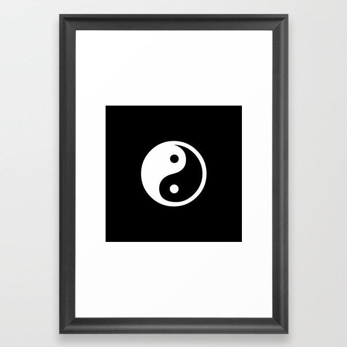 Yin Yang Black White Framed Art Print by beautifulhomes   Society6