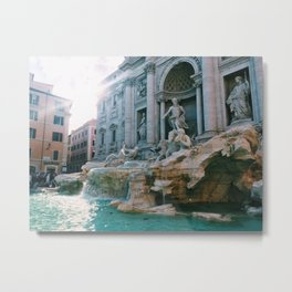 Trevi Fountain Metal Print