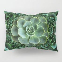 ORNATE JADE & DARK GREEN SUCCULENT  GARDEN Pillow Sham