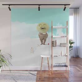 Time Rabbit and Lion Wall Mural
