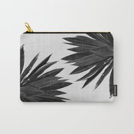 Agave Cactus Black & White Carry-All Pouch