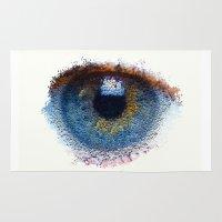 iris Area & Throw Rugs featuring Iris by Paul Kimble
