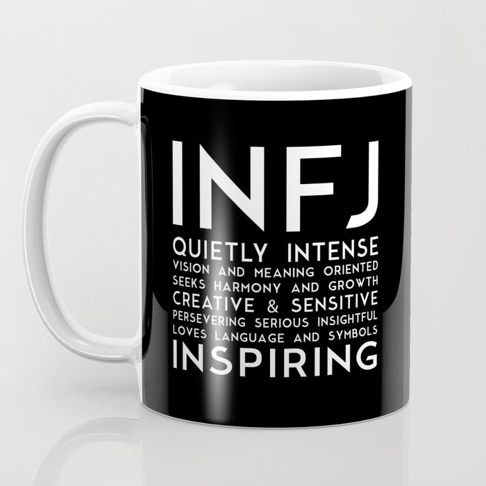 Infj Black Version Coffee Mug By Guillaumecroche Society6