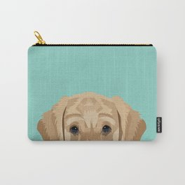 Labrador puppy pet portrait wall art and gifts for dog breed lovers Carry-All Pouch