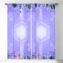 Abstract floral frame  Blackout Curtain