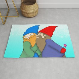 Gnomes In Love Rug