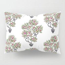 Bonsai Fruit Tree – Sage & Burgundy Palette Pillow Sham