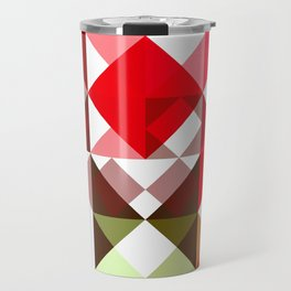 Red Rose with Light 1 Abstract Triangles 1 Travel Mug