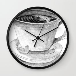 My Cup of Roasted Grey Wall Clock