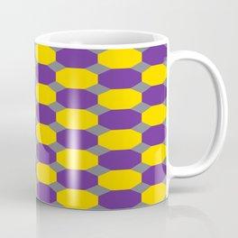 Purple and Yellow Octogons Coffee Mug