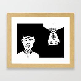 Le troisième oeil Framed Art Print