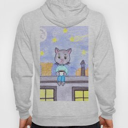 Coffe cat on a roof Hoody