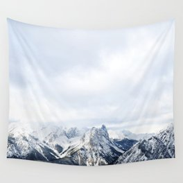 Looking out over the Rockies, in Banff Wall Tapestry