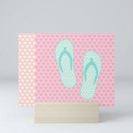 Flip Flop Pastel Mini Art Print