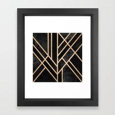 Art Deco Black Framed Art Print