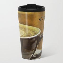 cappuccino coffee textured art Metal Travel Mug