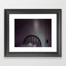 homemade study no. 12 (bed in shadow) Framed Art Print