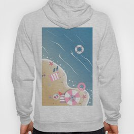 Isolated Beach Paradise with crystal waters Hoody