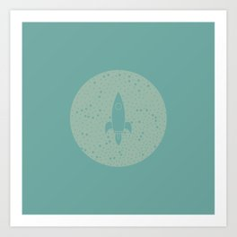 Vintage Fly Me to the Stars Art Print