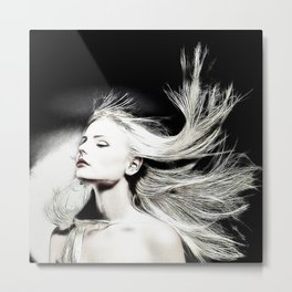 The Blonde in the Story Metal Print