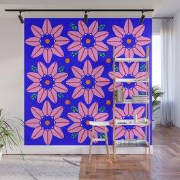 Flower Power 2 Klein Blue Wall Mural