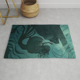 The day a mermaid found a shipwreck Rug