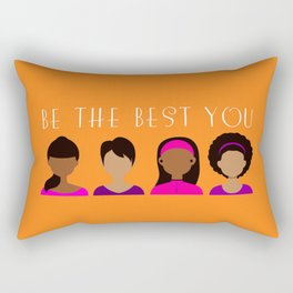 Black Girls Be The Best You Rectangular Pillow