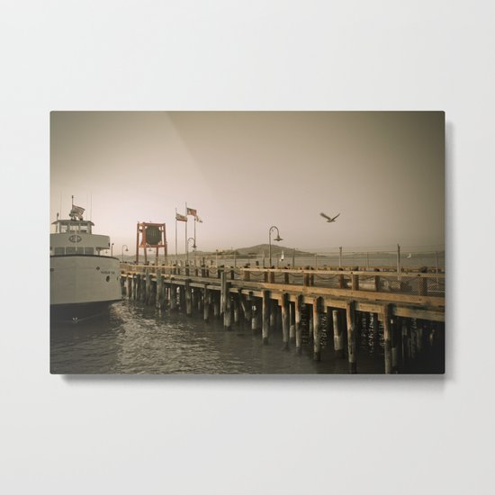 View of Alcatraz - The Rock Metal Print