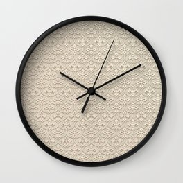 Blond Trellis Wall Clock