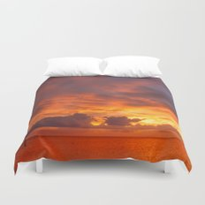 Burning Sunset Duvet Cover